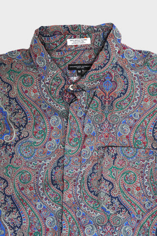 engineered garments Short Collar Shirt - Grey Cotton Paisley Print