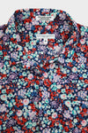 engineered garments Short Collar Shirt - Navy/Red/Lt.Blue Floral Lawn