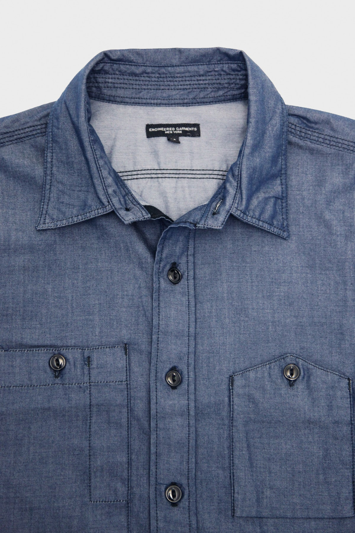 Engineered Garments - Work Shirt - Dark Blue Light Weight Denim - Canoe Club