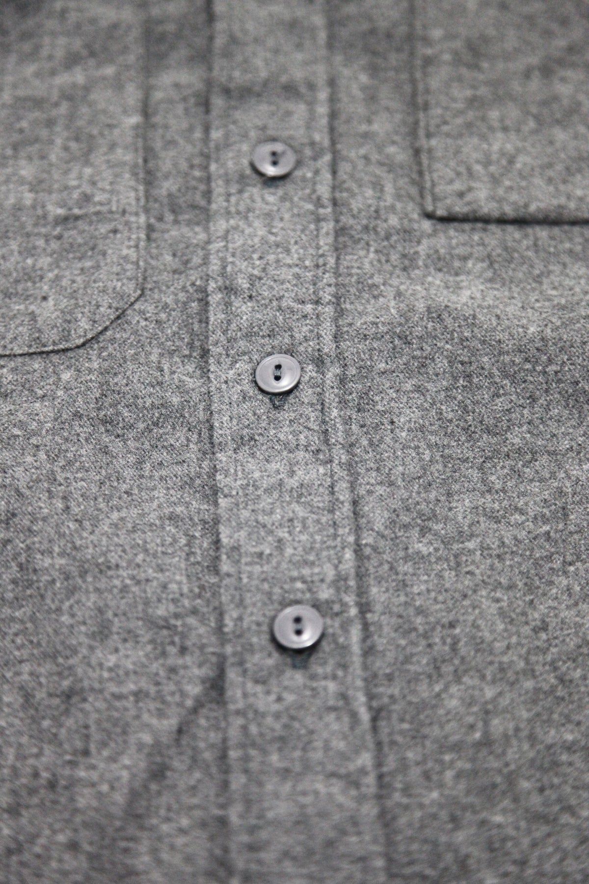 Engineered Garments - Work Shirt - Dark Grey Brushed Cotton Twill - Canoe Club