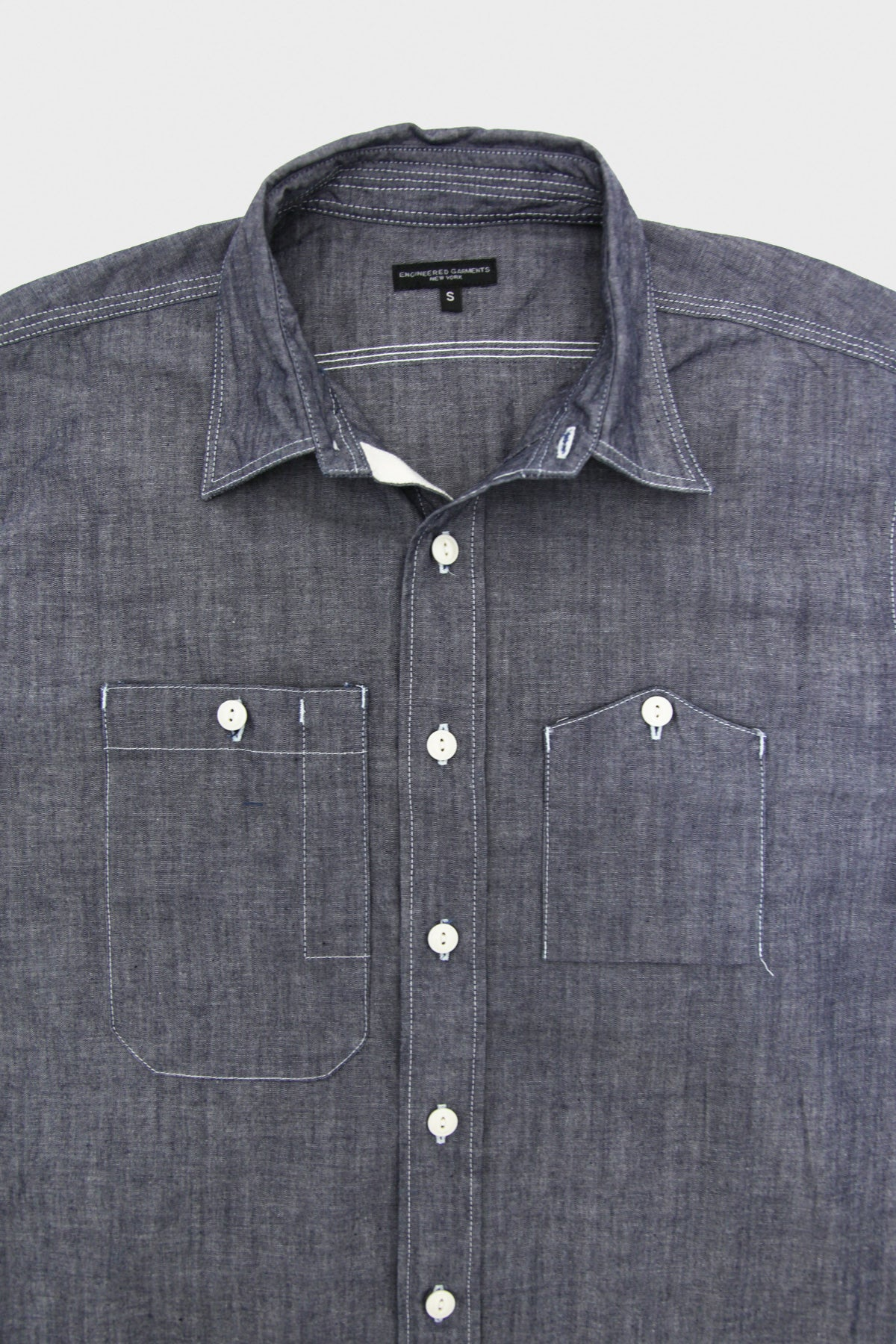 Engineered Garments - Work Shirt - Indigo Cone Cotton Chambray - Canoe Club