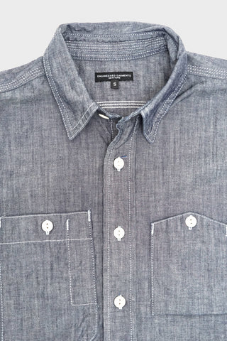 engineered garments Work Shirt - Indigo Cotton Cone Chambray