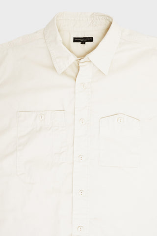 engineered garments Work Shirt - Ivory Cotton Fineline Twill
