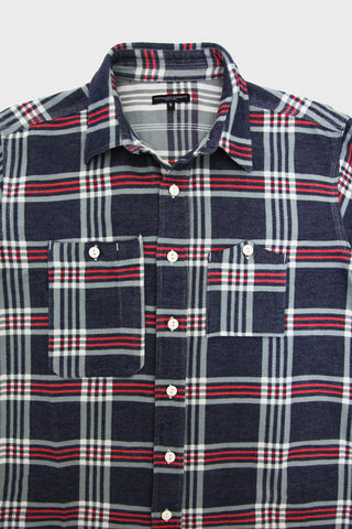 engineered garments Work Shirt - Navy/Teal/Red Big Plaid