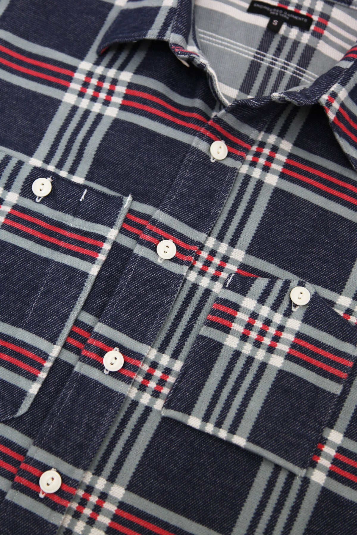Engineered Garments - Work Shirt - Navy/Teal/Red Big Plaid - Canoe Club