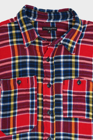 engineered garments Work Shirt - Red/Navy Cotton Twill Plaid