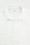 Work Shirt - White Mini Polka Dot Lawn