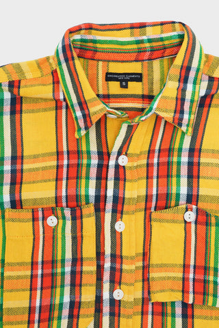 engineered garments Work Shirt - Yellow Cotton Twill Plaid