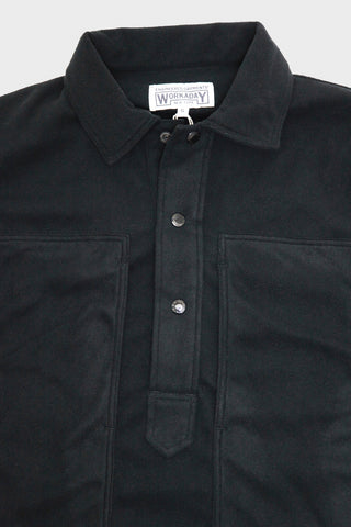 engineered garments workaday Army Shirt - Black Polyester Fleece