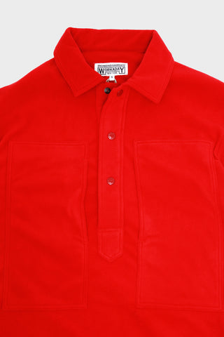 engineered garments workaday Army Shirt - Red Polyester Fleece