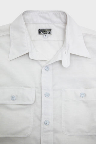 Workaday by Engineered Garments Utility Shirt - White PC Oxford
