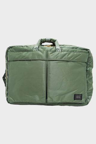 porter yoshida and co 3 Way Brief Case - Sage Green