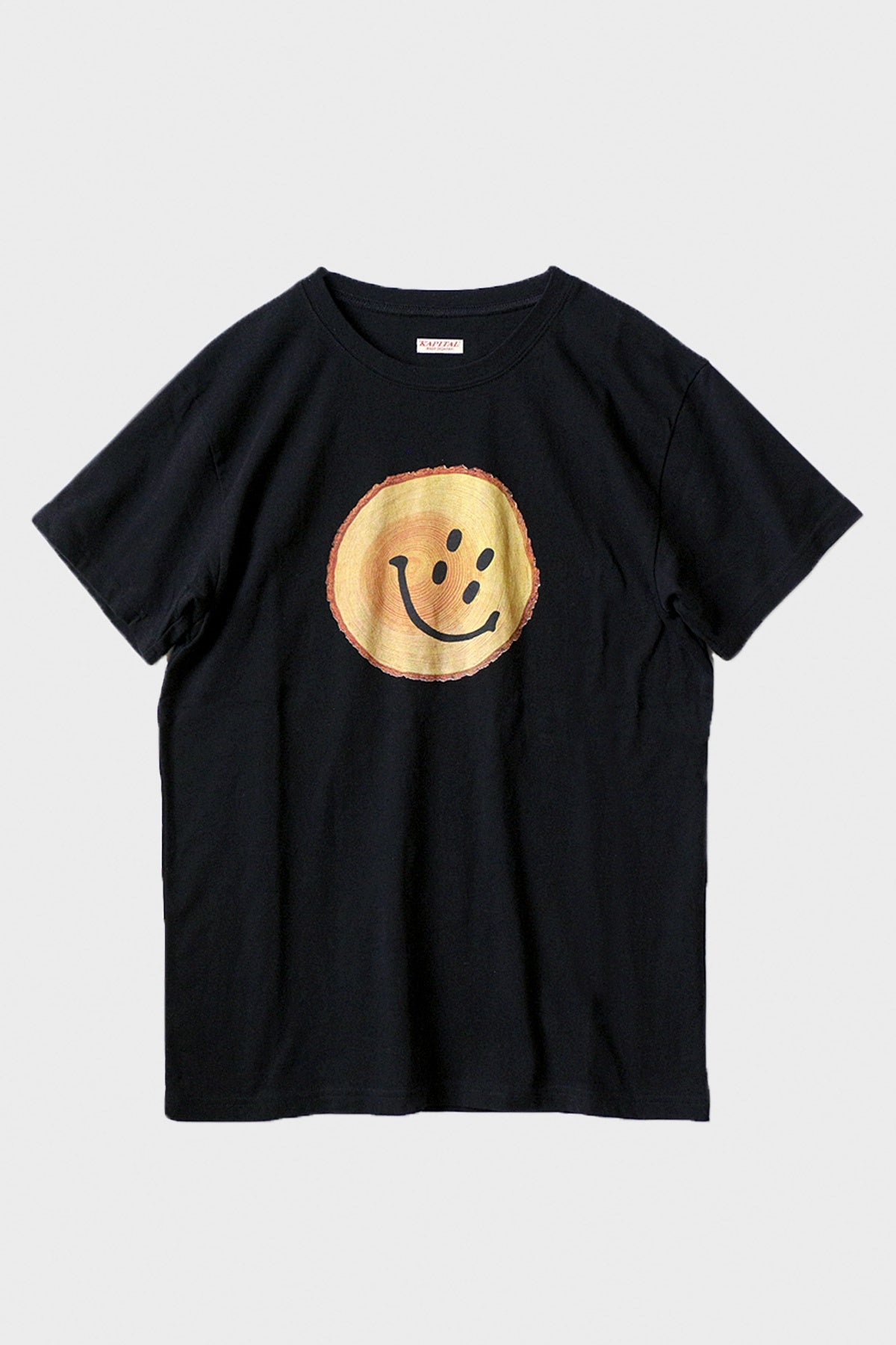 Kapital - Jersey Crew T (TRUNK RAIN SMILE) - Black - Canoe Club