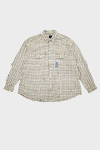 visvim indigo camping trading post find your happiness I.C.T. Grand River Long Sleeve - Crash Beige