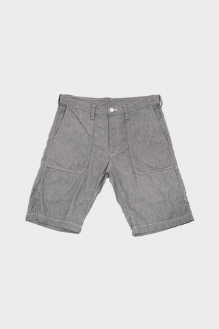 tss Slub Denim Fatigue Shorts - Grey