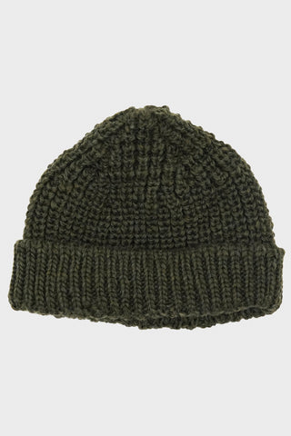 British Wool Short Hat - Olive