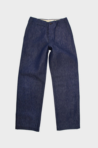 C&L Trousers - Indigo Cotton/Linen