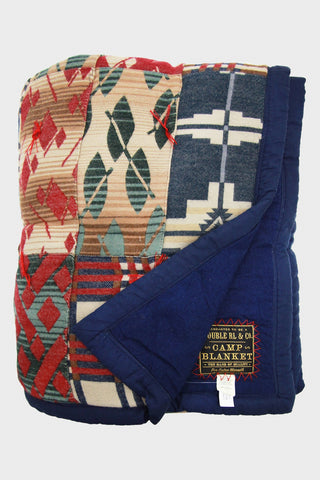 Double R L Quilt in patchwork western motifs