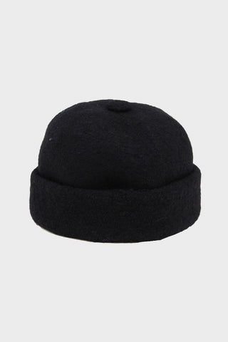 cableami Boiled Wool Cap - Black