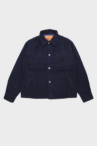 arpenteur Eddie J. Jacket - Woad Overdyed Denim - Dark