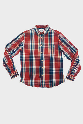 corridor clothing nyc Blanket Plaid Shirt - Winter Red