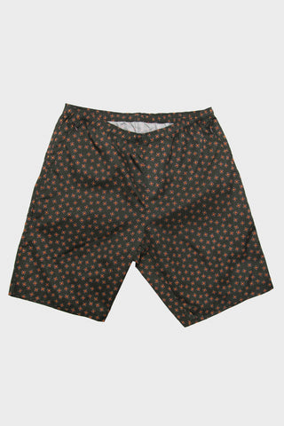needles clothing japan warm-up short in dark brown full image of front