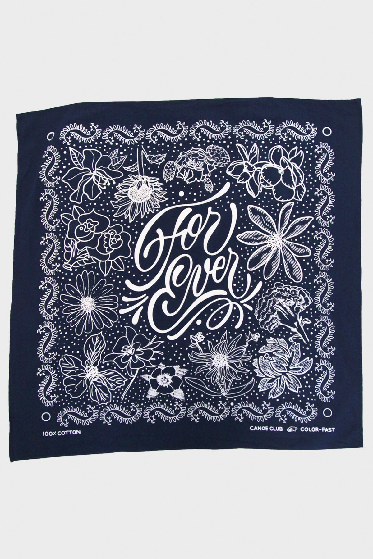 "Canoe Club Collaborations - Canoe Club ""For Ever"" Bandana - Navy - Canoe Club"