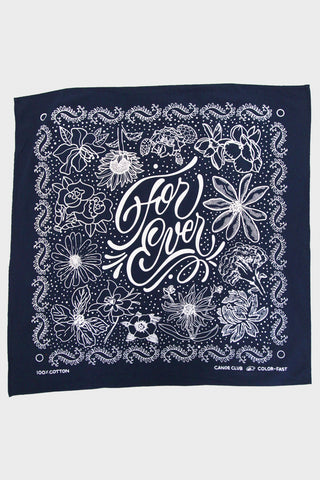 "canoe club ""For Ever"" Bandana - Navy"