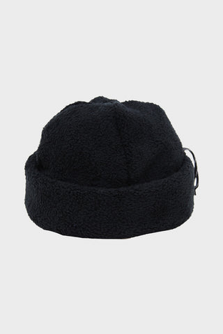 cableami Boa Fleece Cap - Black