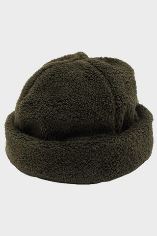 cableami Boa Fleece Hat with Drawcord - Olive