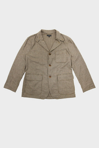 engineered garments Loiter Jacket - Brown Wool Poly Gunclub Check