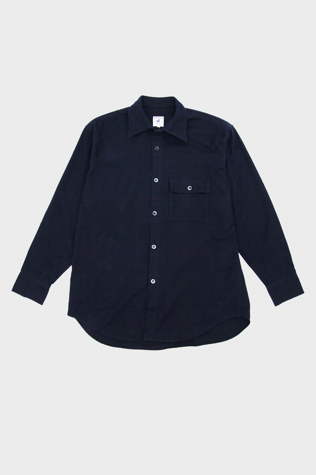 Arpenteur - Doris Shirt - Navy Cotton Flannel - Canoe Club