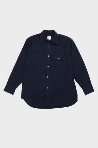 arpenteur Doris Shirt - Navy Cotton Flannel