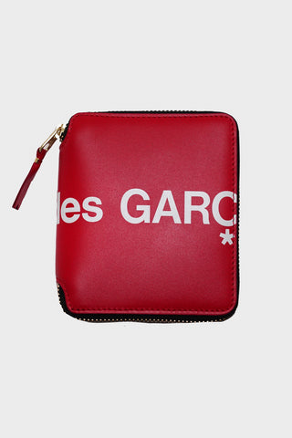 comme des garcons wallet Huge Logo Zip Wallet - Red