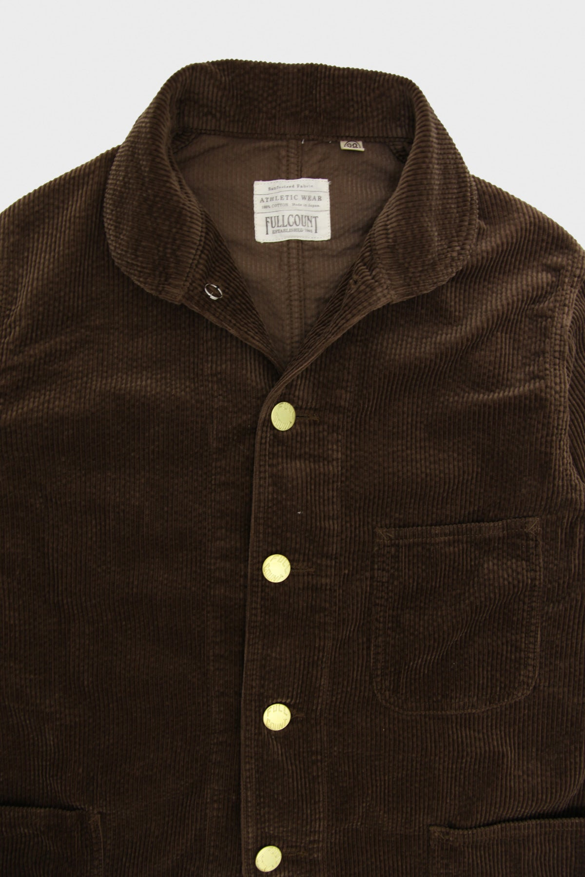 Full Count - Corduroy Farmers Short Coverall - Brown - Canoe Club