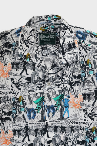 gitman bros. vintage Playing with Picasso camp shirt - White