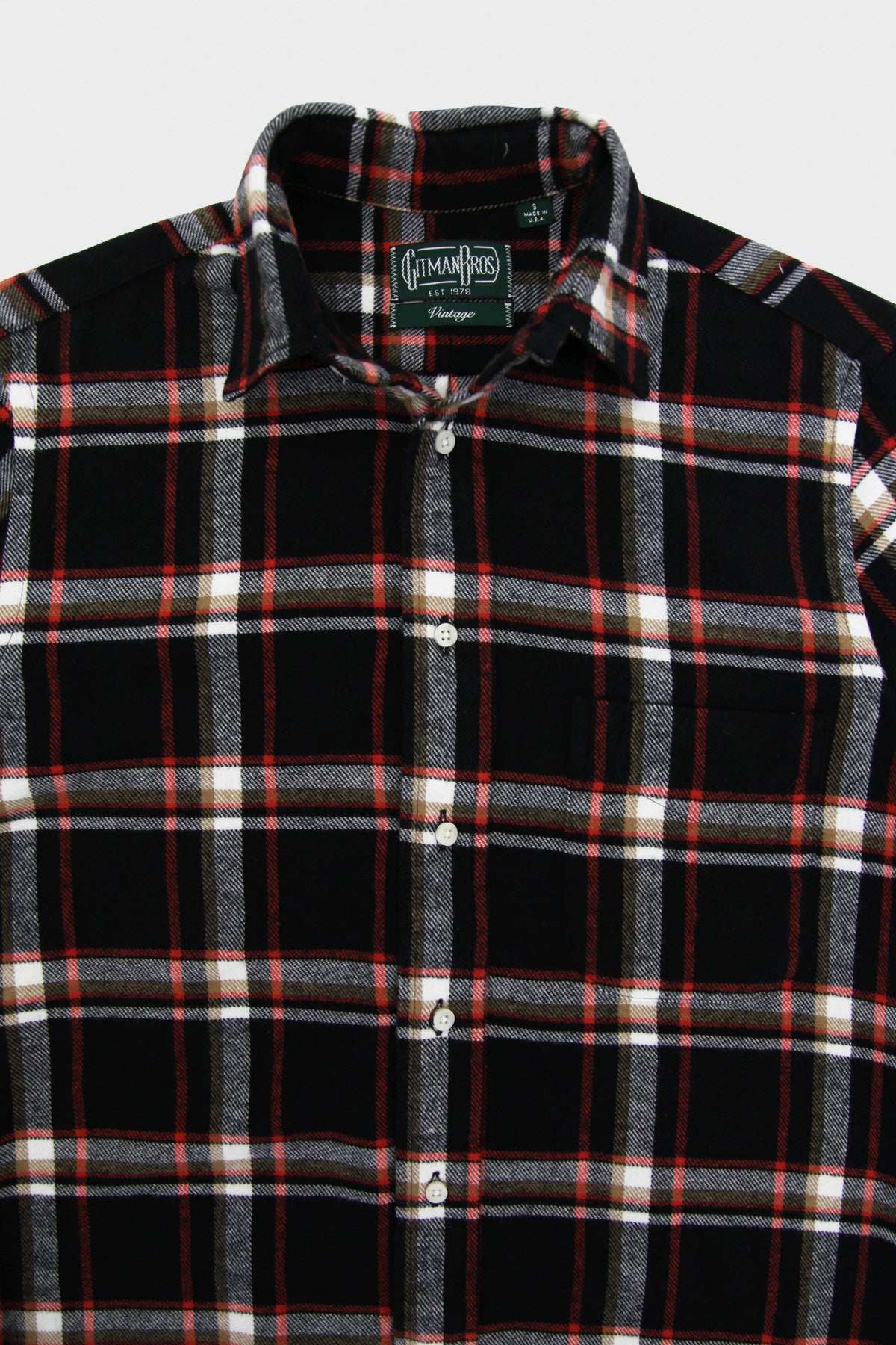 Country Plaid Button Down Shirt - Black
