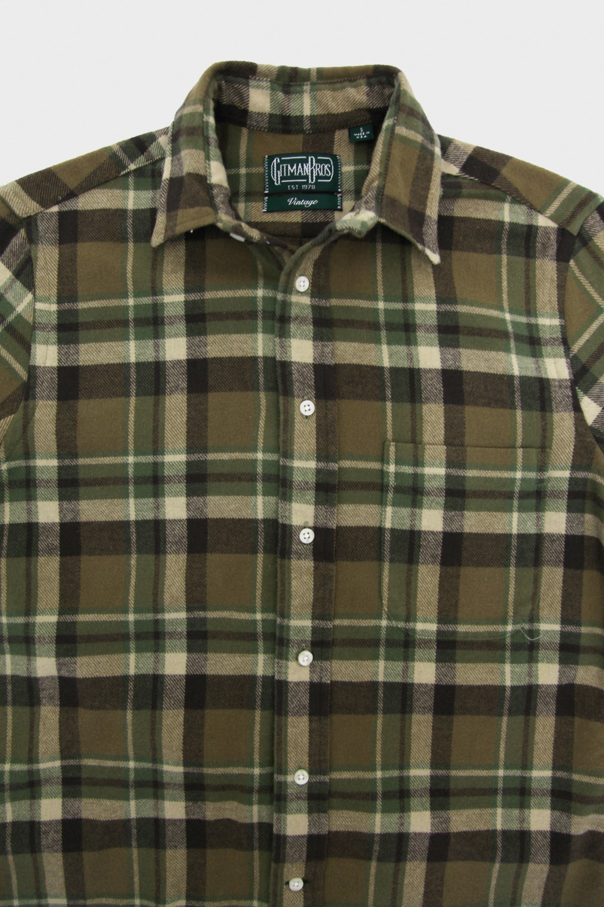 Country Plaid Button Down Shirt - Olive