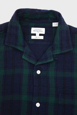 Double Face Woven Shirt - Green/Blue Plaid