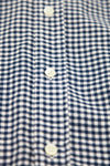 Gingham Flannel - Navy/White