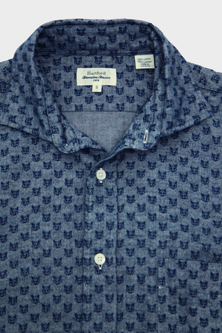 Paul Printed Flannel Shirt - Blue Foxes