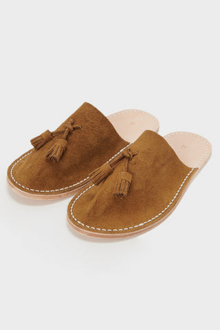 hender scheme Leather Slipper - Camel