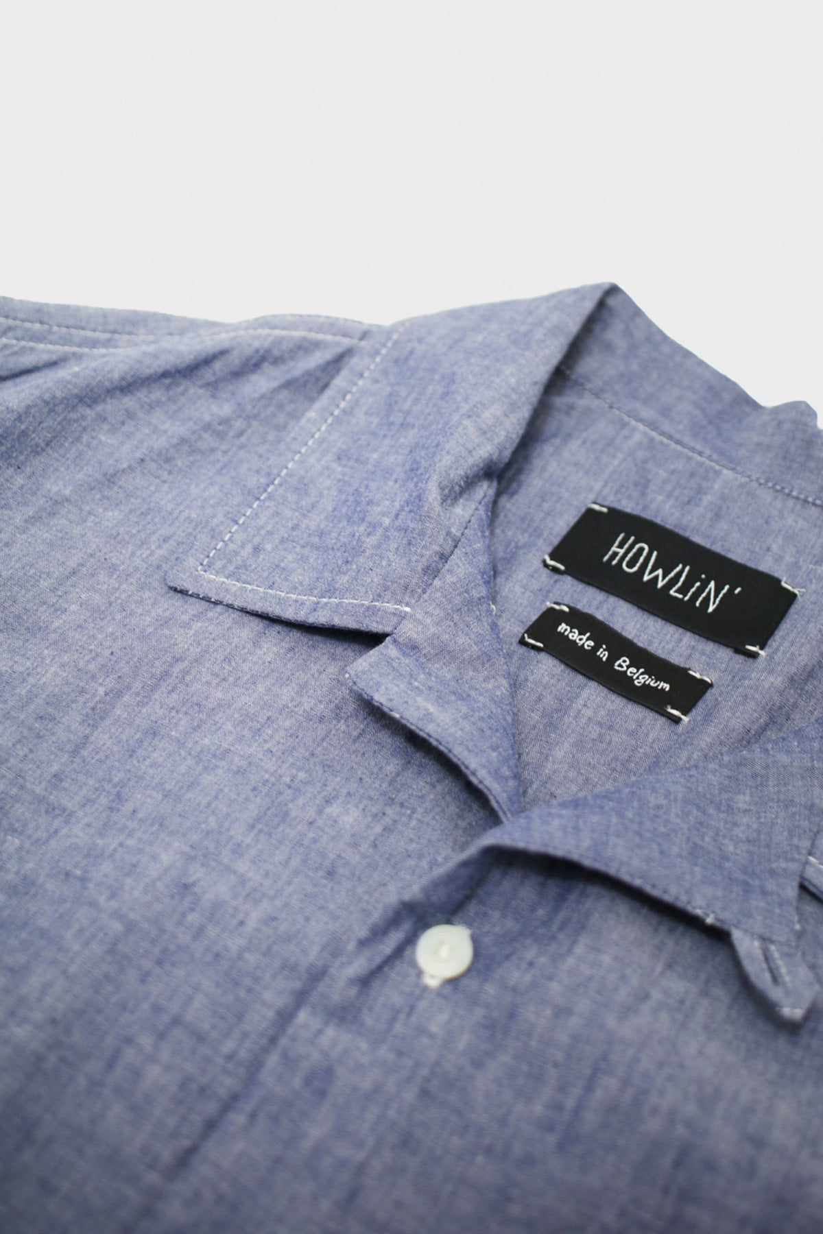 Howlin' - Cocktail Shirt - Chambray Mid Blue - Canoe Club