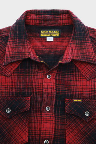 Ombre Western Shirt - Red/Black