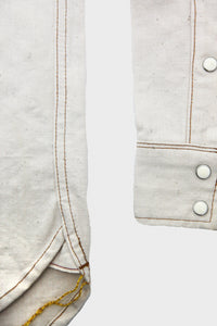 Heavy Selvedge Chambray Western - Off White