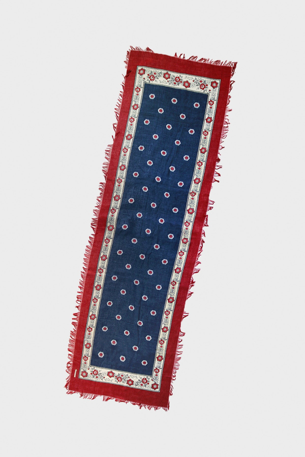 Kapital - Rayon ROCKWELL Fringed Stole - Red - Canoe Club