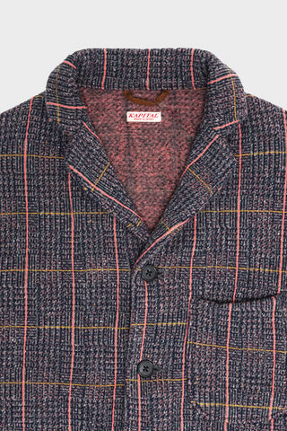 kapital Tweed Fleecy Knit KOBE Jacket - Gray/Pink