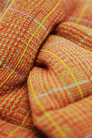 Tweed Fleecy Knit x Lamb Wool KESA Scarf - Orange