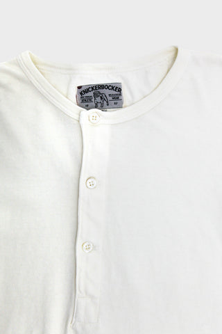 Long Sleeve Henley - Milk