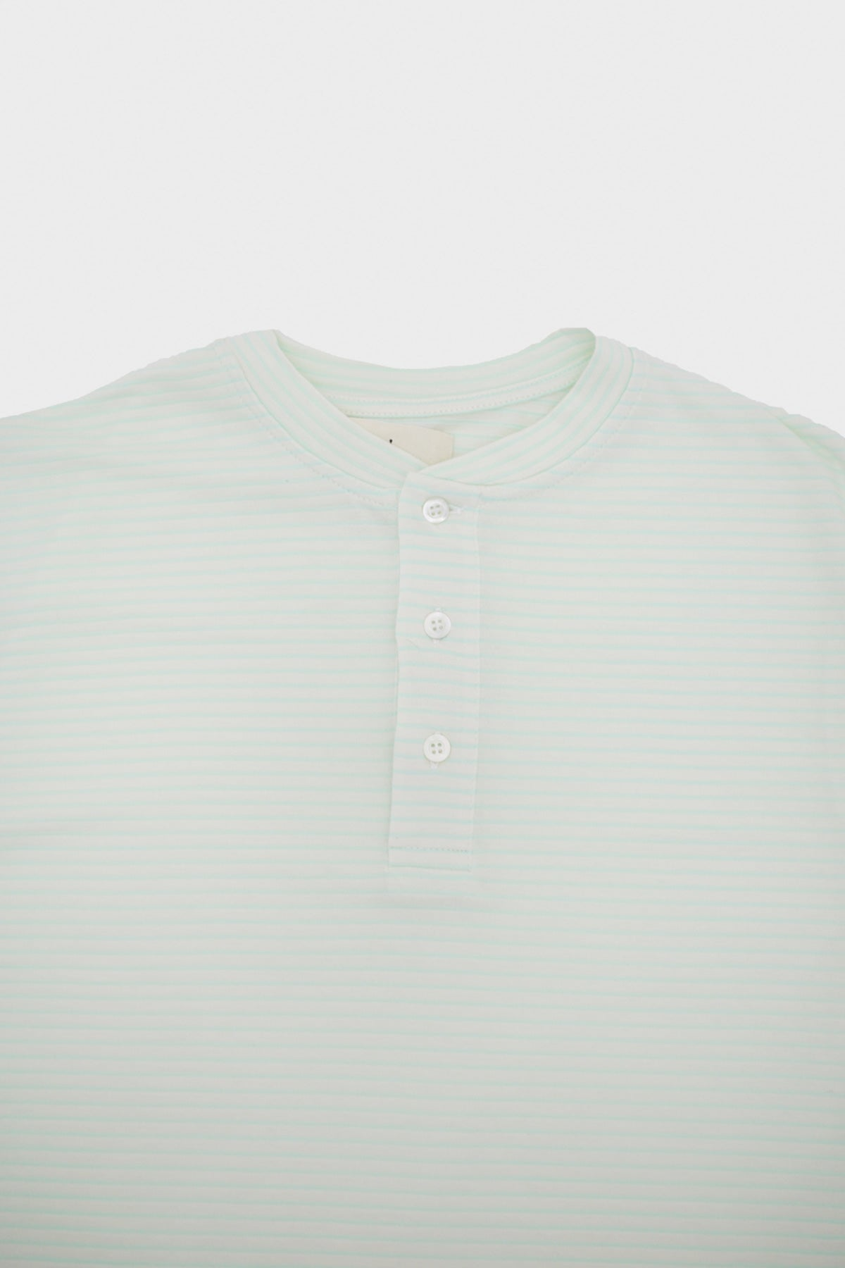 La Paz - RIBAS Henley - Aqua Green Stripes - Canoe Club